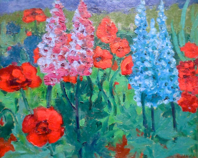 Nolde Blumengarten F (Mohn und blaue Kerzen), 1915 Hamburger Kunsthalle 2015-09-17 Foto Elke Backert (1)