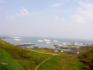 Helgoland Blick auf Duene